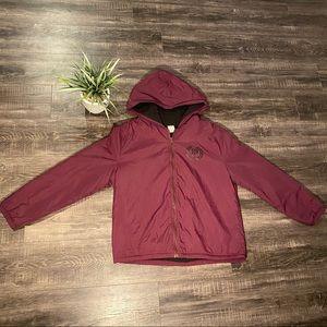 PINK Mauve Faux Wool Rain Jacket
